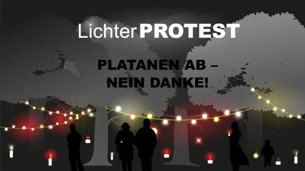 Marktplatz_Lichterprotest_Baumfällung