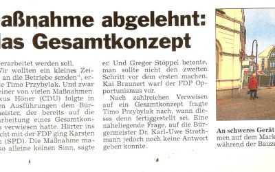 Glocke: FDP-Einzelmaßnahme abgelehnt