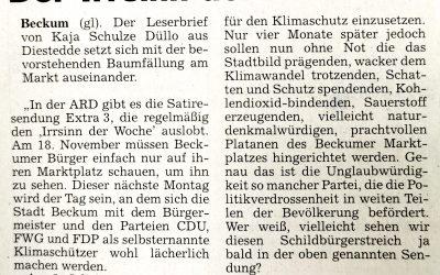 Leserbrief:Der Irrsinn der Woche von Kaja Schulze Düllo