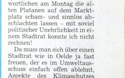 Leserbrief: Nichtstun wird mit Eifer verschleiert von Dirk Leifeld